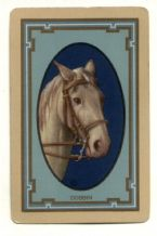 "Antique Collectible Narrow named playing cards. ""Dobbin""  horse's head"
